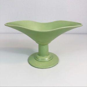 Vintage MCM HAEGER Pottery USA Oval Pedestal Bowl